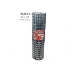 Сетка сварная оцинкованная 50,8х12,7 Ø1,8 высота 1м длина 15м