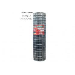 Сітка зварна оцинкована 50,8х25,4 ф1,8 висота 1м довжина 15м
