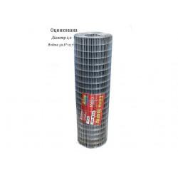 Сетка сварная оцинкованная 50,8х12,7 Ø2,0 высота 1м длина 15м