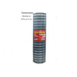 Сетка сварная оцинкованная 50,8х25,4 Ø2,0 высота 1м длина 15м